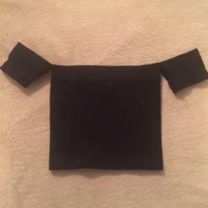 Victoria's Secret Black Off-the-Shoulder Tube Top